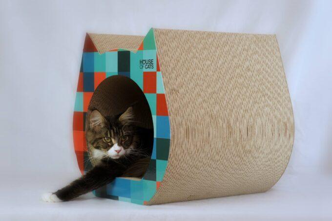 Drapak Cat Square z kotkiem